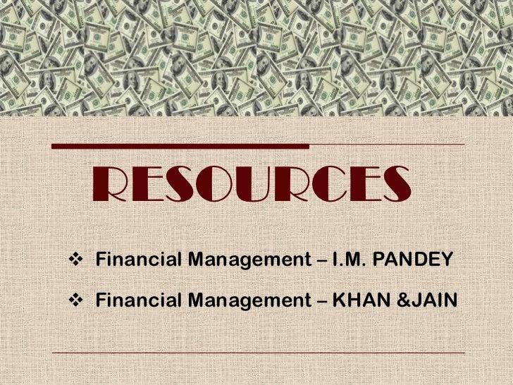 Im Pandey Financial Management Pdf