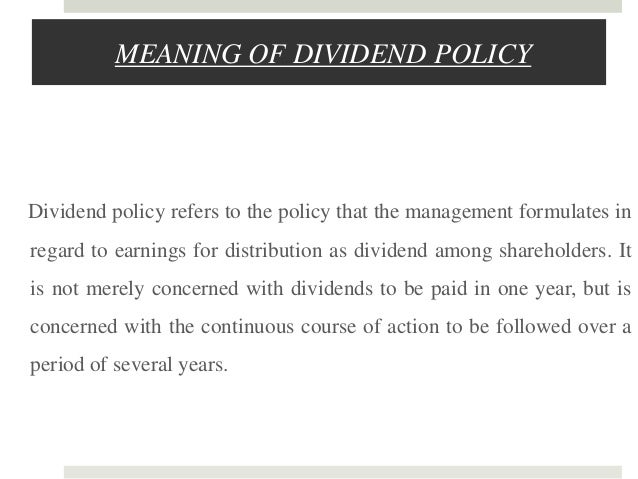 Avons dividend policy essay