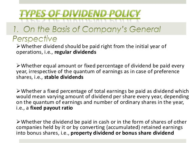 dividend policy thesis Remon smits | effect of a financial crisis on the dividend payout policy of a firm 2 preface i have spent the last couple of months working on this master thesis, the final product of my study.