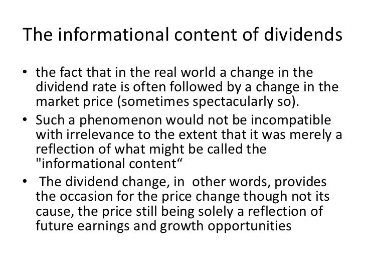 Dividend Irrelevance Theory Explained