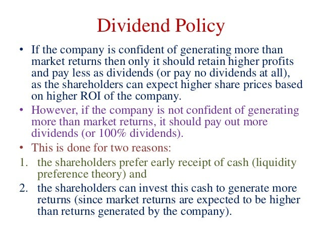 dividend policy and share prices To find the relation between the shares market price and the dividend policy of the banks to analyze the factors affecting the market price of the banks share to measure the impact of the bank's dividend policy on its shares market price.