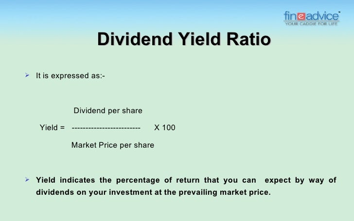 relationship between dividend yield share price