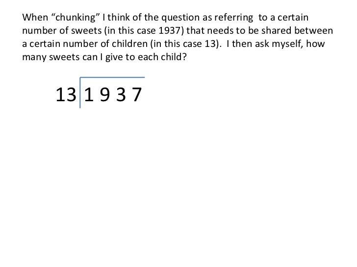 Dividing by Chunking 4 digit by 2 digit – Chunking Division Worksheets