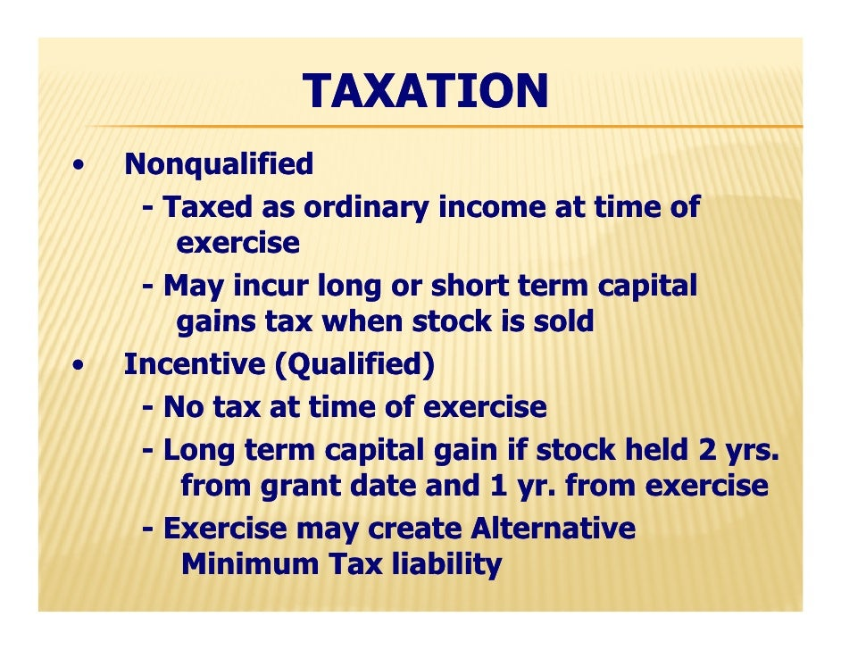 Taxation of stock options in sweden