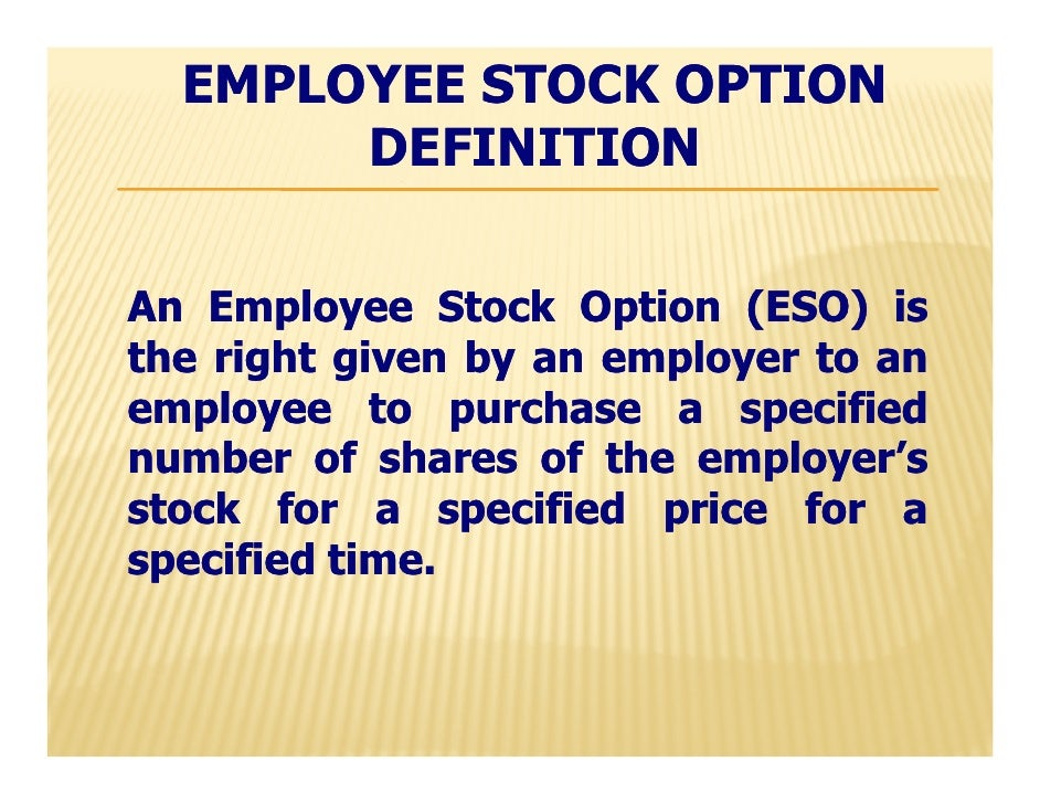 Stock options for employees