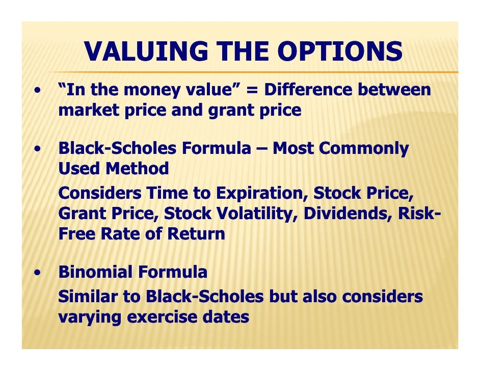 Difference between stock options and profit sharing