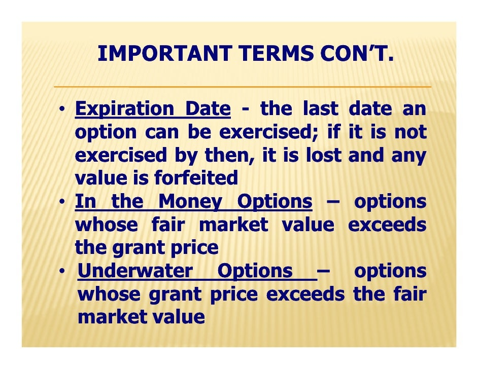 Stock options granted below fair market value