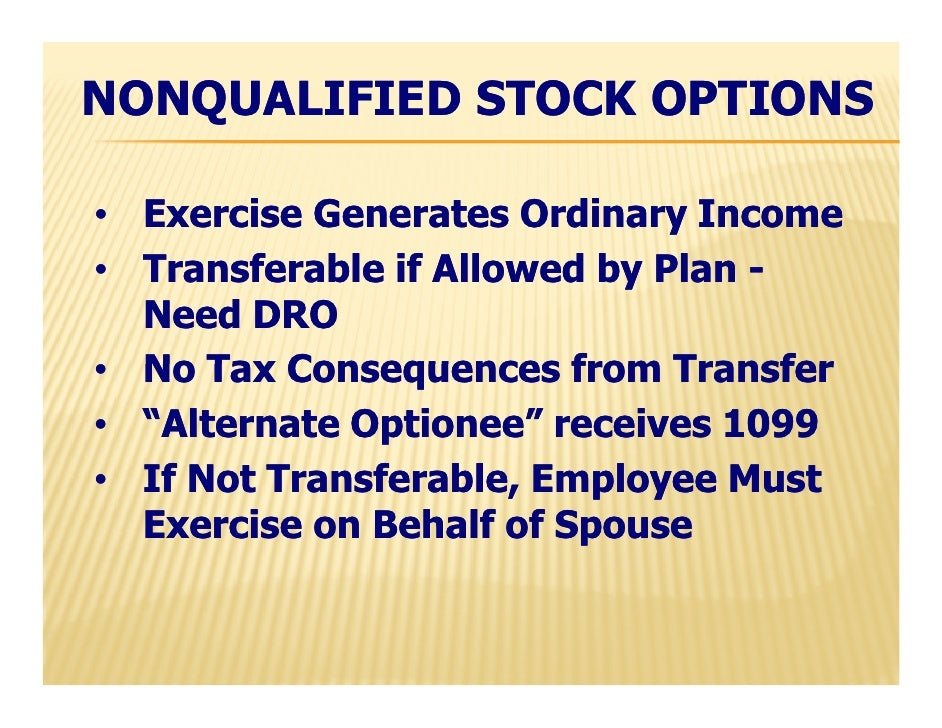 Nonqualified stock options 1099