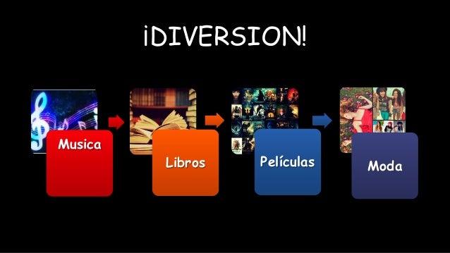 ¡DIVERSION! Musica Libros Películas Moda