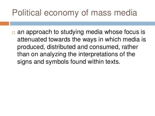 POLITICAL ECONOMY OF MASS MEDIA PDF DOWNLOAD