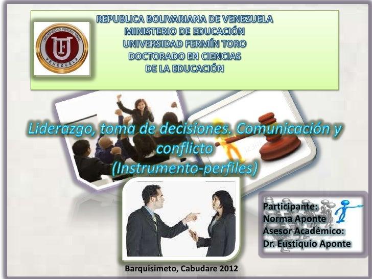 Participante:                              Norma Aponte                              Asesor Académico:                    ...