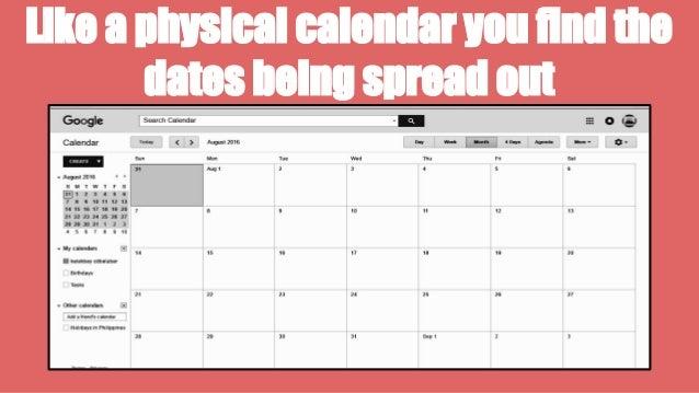 how to put google calendar on the bar