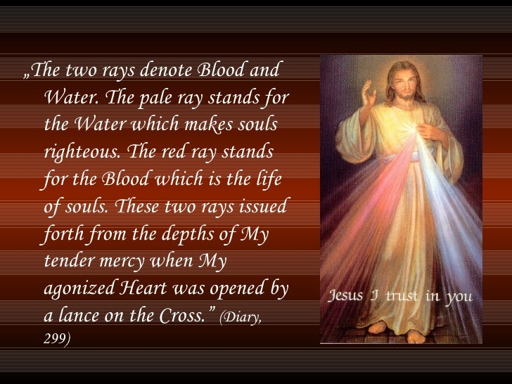 """<ul><li>"""" The two rays denote Blood and Water. The pale ray stands for the Water which makes souls righteous. The red ray ..."""