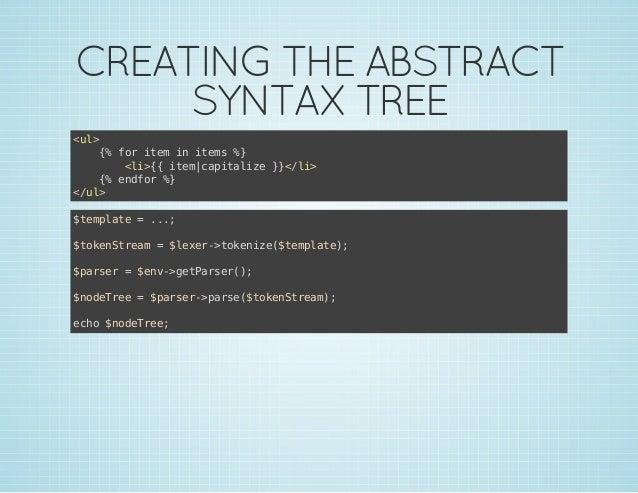 CREATING THE ABSTRACT SYNTAX TREE <l u> { frie i ies% % o tm n tm } <i{ ie aiaie}<l> l>{ tmcptlz }/i { edo % % nfr } <u> /...