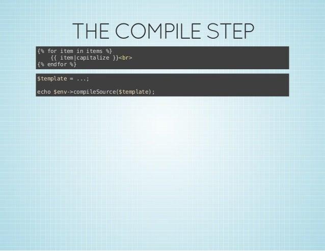 THE COMPILE STEP { frie i ies% % o tm n tm } { ie aiaie}<r { tmcptlz }b> { edo % % nfr } $epae=.. tmlt .; eh $n-cmieore$ep...