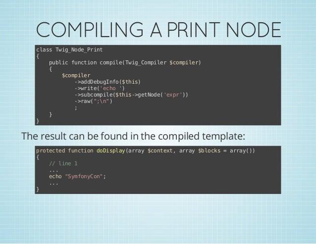COMPILING A PRINT NODE casTi_oePit ls wgNd_rn { pbi fnto cmieTi_oplr$oplr ulc ucin opl(wgCmie cmie) { $oplr cmie -adeuIf(t...