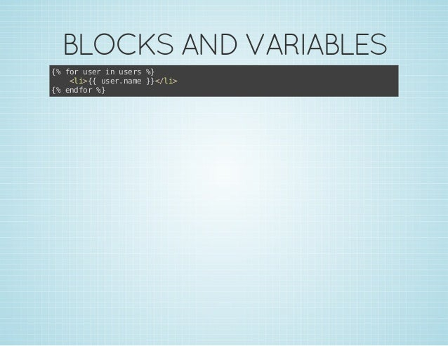 BLOCKS AND VARIABLES { frue i ues% % o sr n sr } <i{ ue.ae}<l> l>{ srnm }/i { edo % % nfr }