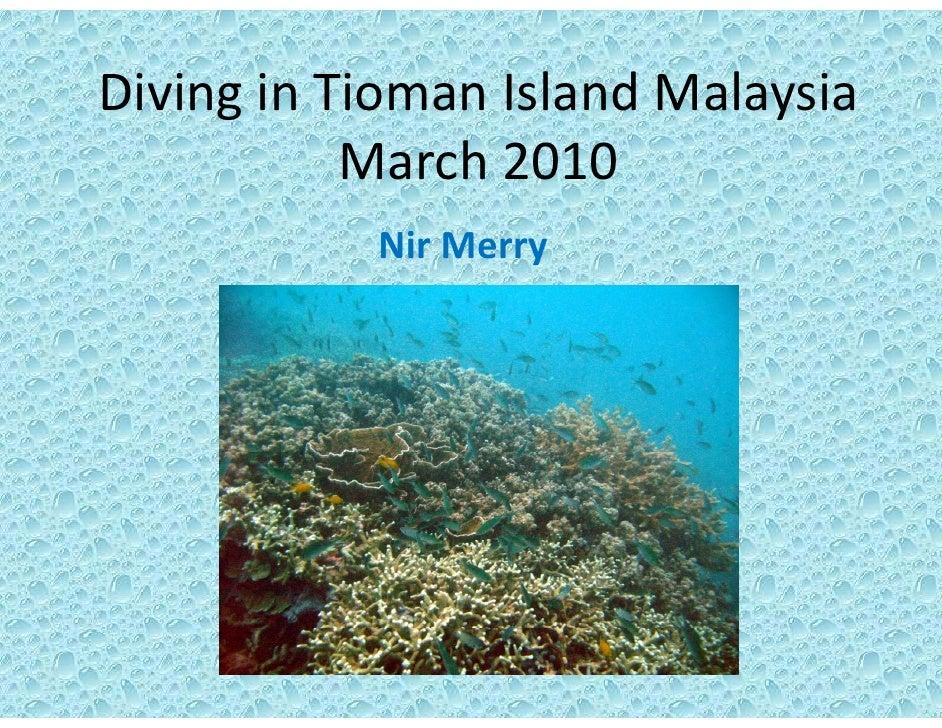 DivinginTioman IslandMalaysia Diving in Tioman Island Malaysia            March2010            Nir Merry