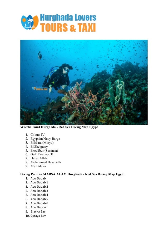 Diving hurghada red sea egypt sites map Slide 3