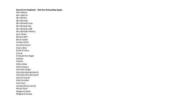 Power Point Diving Hurghada Red sea Egypt Sites Map ppt Slide 3