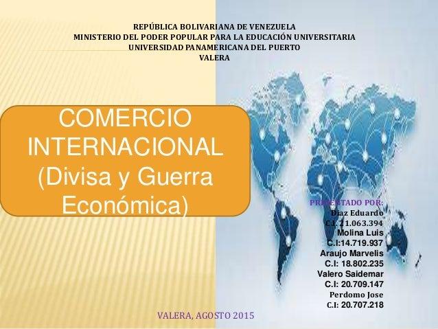 REPÚBLICA BOLIVARIANA DE VENEZUELA MINISTERIO DEL PODER POPULAR PARA LA EDUCACIÓN UNIVERSITARIA UNIVERSIDAD PANAMERICANA D...