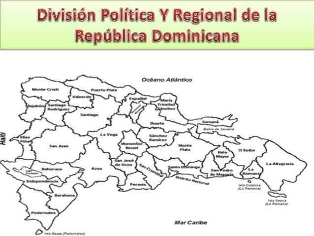 Mapa De Republica Dominicana En Blanco.Division Politica Y Regional De La Republica Dominicana