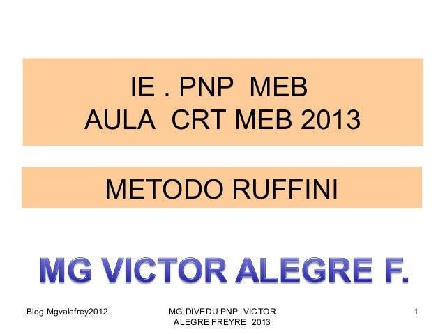 Blog Mgvalefrey2012 MG DIVEDU PNP VICTORALEGRE FREYRE 20131METODO RUFFINIIE . PNP MEBAULA CRT MEB 2013