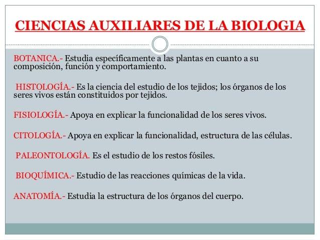 Divisiones De La Biologia