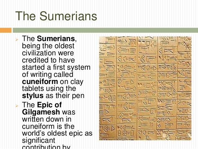 """epic gilgamesh essay story ancient sumerian people called The earliest sumerian versions of """"the epic of gilgamesh"""" date from as early as the third dynasty of ur (2150 - 2000 bce), and are written in sumerian cuneiform script, one of the earliest known forms of written expression it relates ancient folklore, tales and myths and it is believed that there were many different smaller stories and myths that over time grew together into one complete work."""