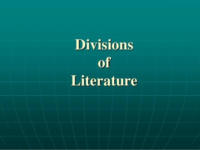 DivisionsofLiterature
