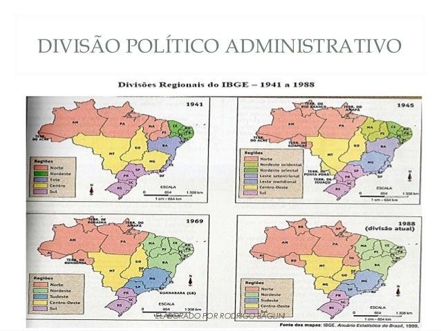 DIVISÃO POLÍTICO ADMINISTRATIVOELABORADO POR RODRIGO BAGLINI
