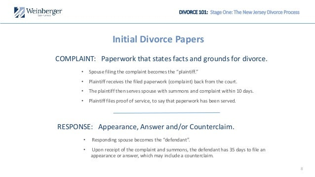 divorce 101 the new jersey divorce process explained
