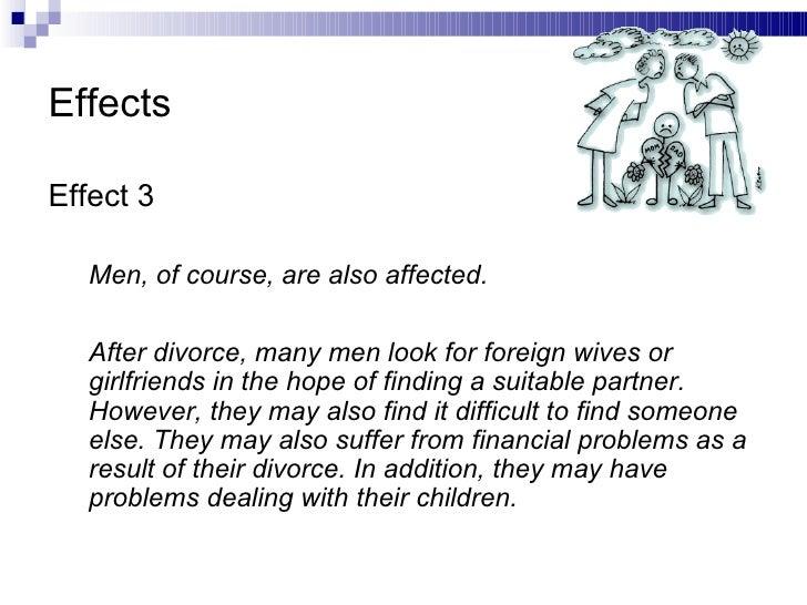 Divorce effects essay