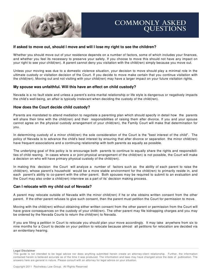 Divorce child custody_guide by stacy rocheleau