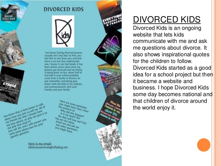 Support And Information For Kids Going Through Divorce