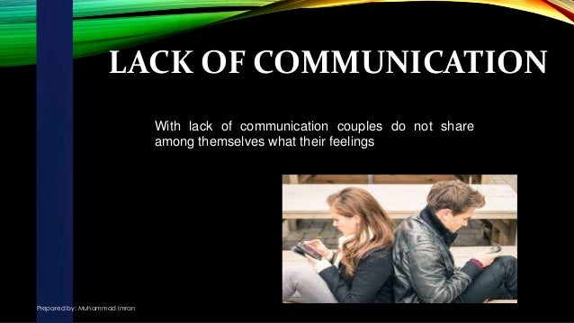 Lack Of Communication In Marriage