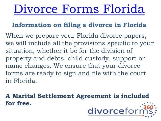 Divorce Forms Florida