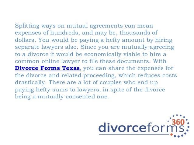 Divorce Forms Texas