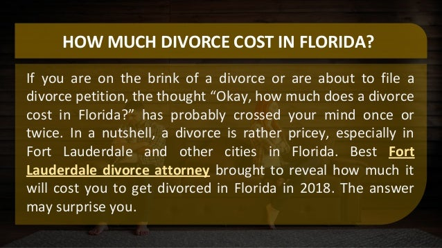 Everything You Need to Know About Florida Divorce Costs