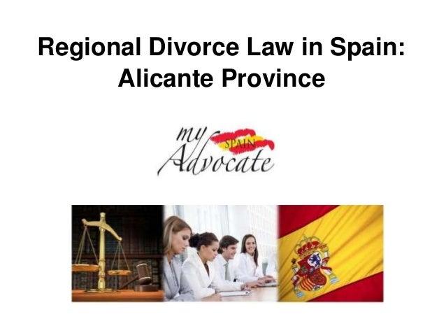 Regional Divorce Law in Spain:      Alicante Province