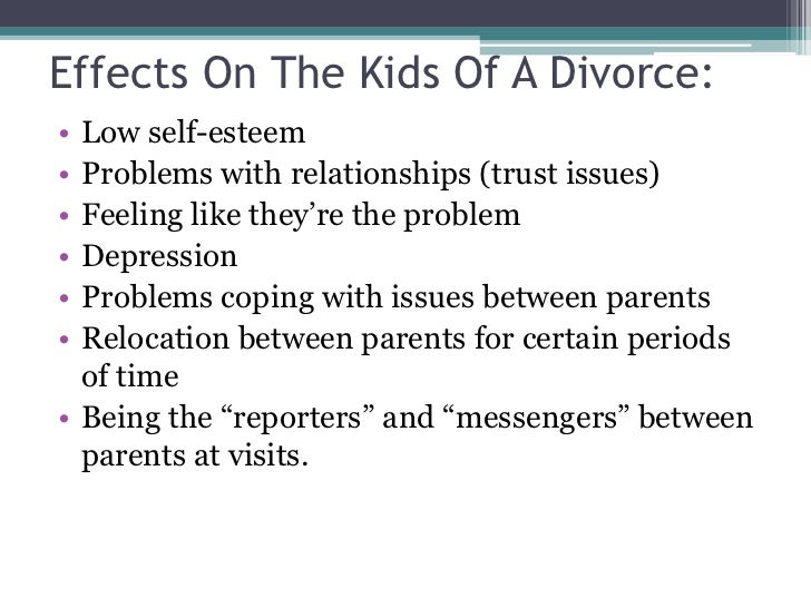 divorce power point effects on the kids