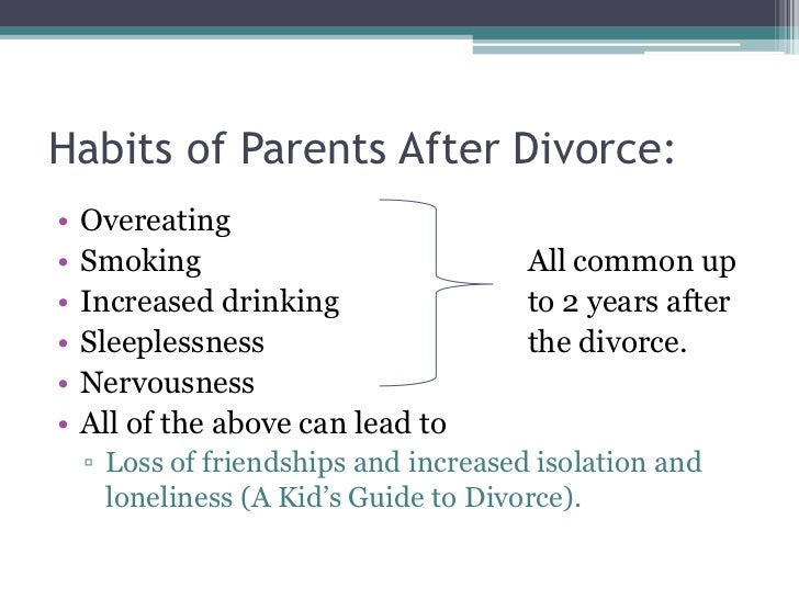 the effects of divorce on young Divorce & its effects on boys a number of studies have indicated that boys experiencing parental divorce show more adjustment problems than girls, though the results have been inconsistent.
