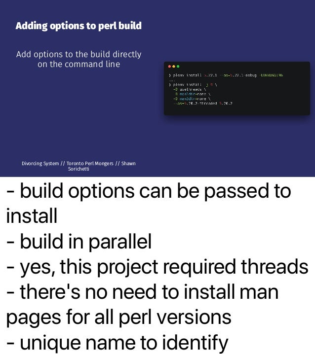 - build options can be passed to install - build in parallel - yes, this project required threads - there's no need to ins...