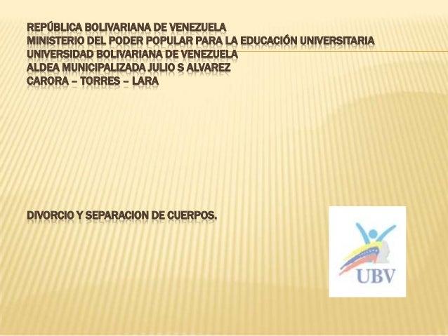 REPÚBLICA BOLIVARIANA DE VENEZUELAMINISTERIO DEL PODER POPULAR PARA LA EDUCACIÓN UNIVERSITARIAUNIVERSIDAD BOLIVARIANA DE V...