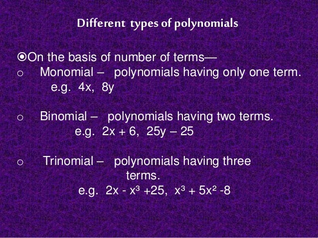 polynomials and real numbers