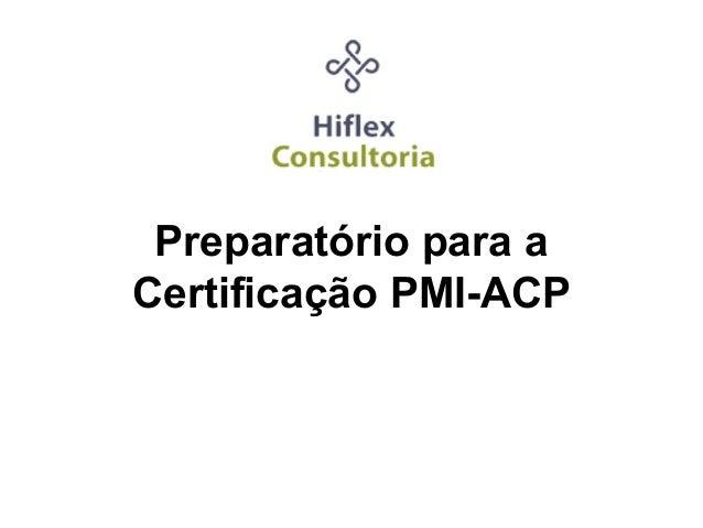 Preparatório para a Certificação PMI-ACP