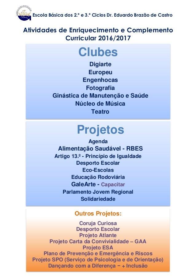 Clubes Digiarte Europeu Engenhocas Fotografia Ginástica de Manutenção e Saúde Núcleo de Música Teatro Projetos Agenda Alim...
