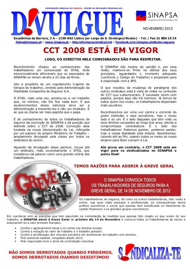 INFORMAÇÃO SINDICAL DO SINAPSA – EDIÇÃO DA DELEGAÇÃO REGIONAL SUL                                                         ...