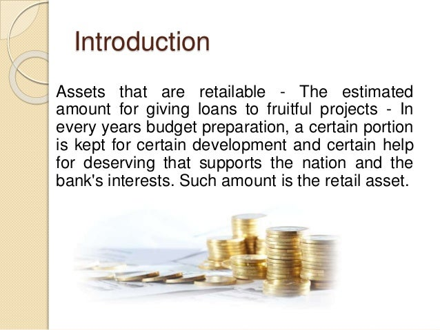 Introduction Assets that are retailable - The estimated amount for giving loans to fruitful projects - In every years budg...