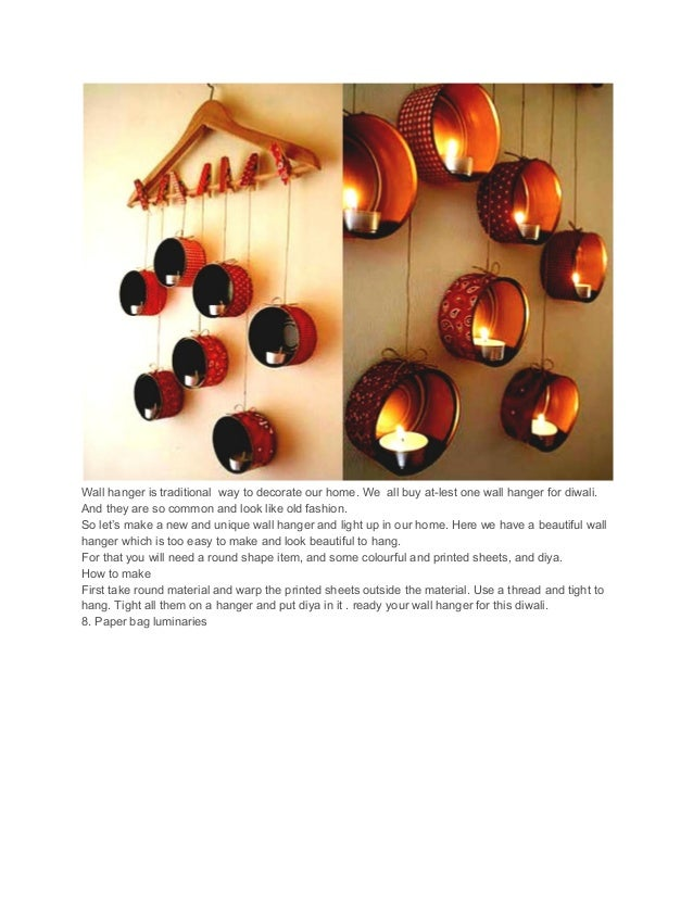 Try These Best Diwali Decoration Ideas For Home Handmade